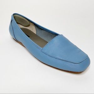 Array Leather Loafer Blue Flats 9W